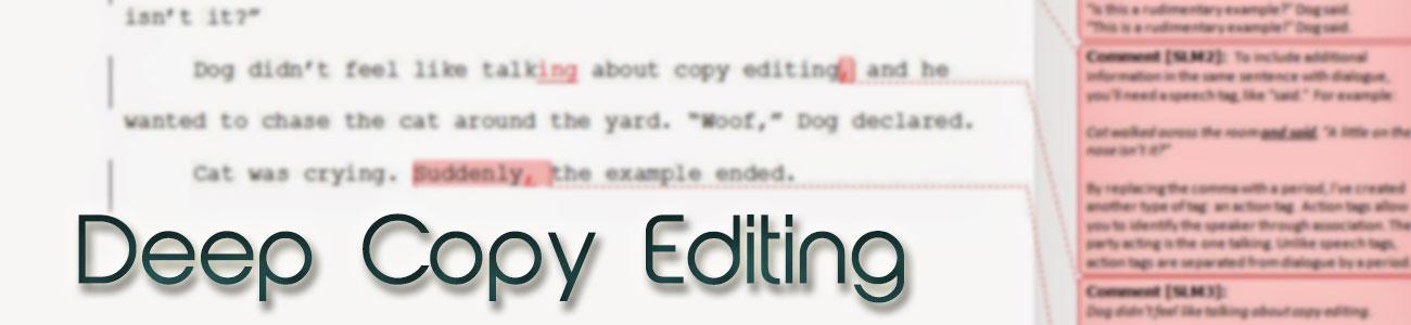 Deep Copy Editing | Safis Editing